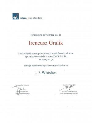 Wyjazd nagrodowy za pracę w 2014 roku