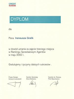 III miejsce w Polsce w maju w 2002 roku